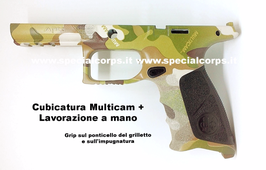 Cover APX Beretta 9x21 imi (Cubicatura Multicam + Lavorazione a mano)