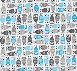 Urban Zoologie Minis - Eule Blau - Baumwolle