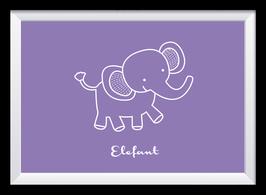 Lila Elefant