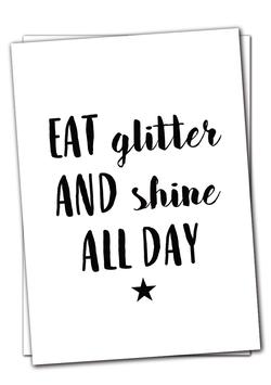 Eat glitter - Karte