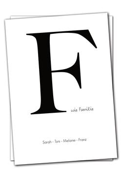 F wie Familie - Karte