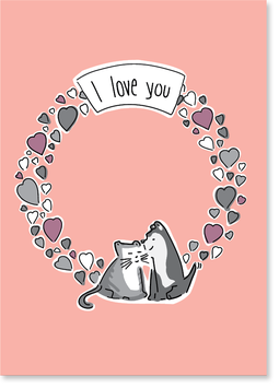 I love you! Postkarte