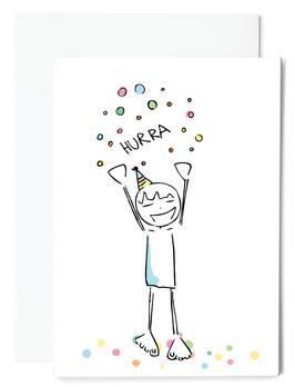 Hurra! Grußkarte