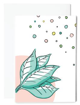 Leaf Grußkarte