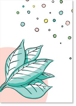 Leaf Postkarte