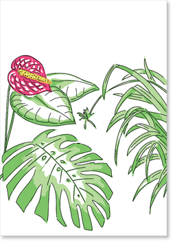 Monstera Postkarte
