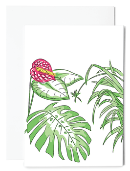 Monstera Grußkarte
