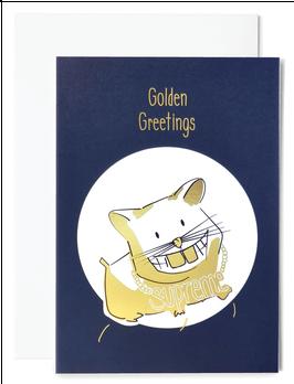Goldhamster Grußkarte