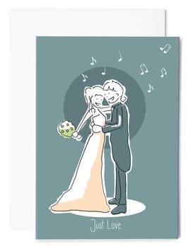 Love is music Grußkarte