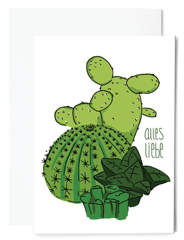 Kaktus Grußkarte