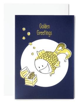 Goldfisch Grußkarte