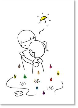 Du bist mein Regenschirm Postkarte
