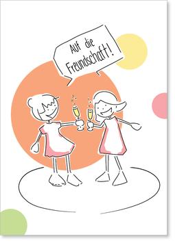 Auf die Freundschaft! Postkarte