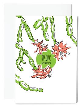 Weihnachtskaktus Grußkarte