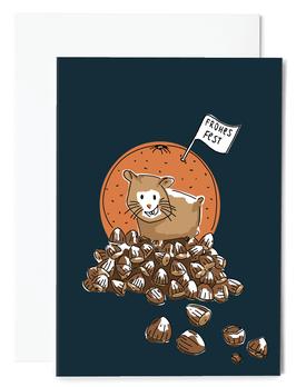 Hamster Christmas Grußkarte