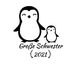 Personalisierung Große Schwester Pinguin