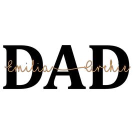 Personalisierung DAD mit Kindernamen
