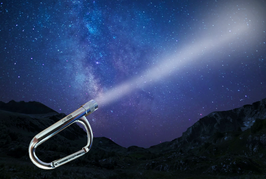 Biologica carabiner with light