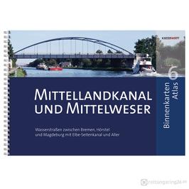Sportbootkarten Binnenkarten Atlas 6 - Mittellandkanal und Mittelweser