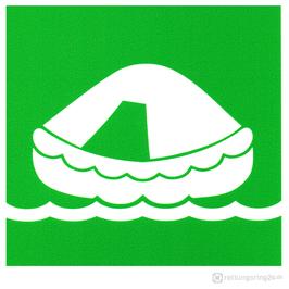 IMO-Aufkleber Liferaft - Rettungsinsel
