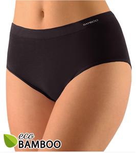 Serie ECO, Damen Bambus Taillenslip mit schmalem Bund, weiß, schwarz, Gr. XL/XXL