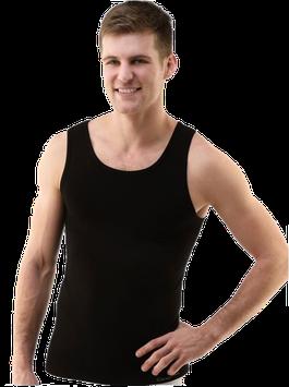 Herren Unterhemd aus Bambus Viskose, Klassiker, nahtlos, schwarz, Gr. XL/XXL