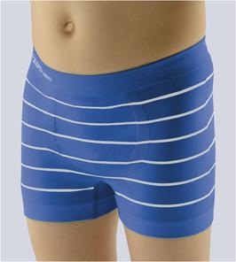 Retropants für Jungen aus Bambus Viskose und Baumwolle, nahtlose Verarbeitung, Farbe türkis, blau, Gr. 128/134 (M)