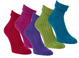 Damen- oder Kinder Socken aus Bambus Viskose, schön bunt, Gr. 35/38