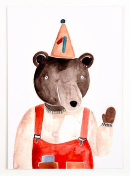 Gretas Schwester | Postkarte |  Eins
