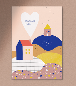 Anna Beddig | Postkarte | sending hugs