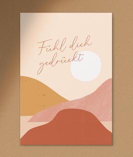 Anna Beddig | Postkarte | Fühl Dich gedrückt