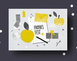 Anna Beddig | Postkarte | Frohes Fest