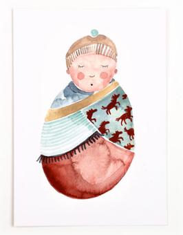 Gretas Schwester | Postkarte | Hej Baby