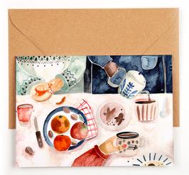 Gretas Schwester | Klappkarte |  Christmas Tea