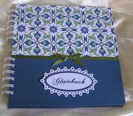 """Gästebuch """"Turkish blue"""""""