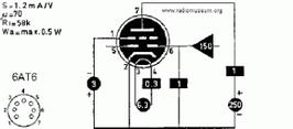 Divers tubes MAZDA. 6AT6 / EBC90 = 1/2 5751