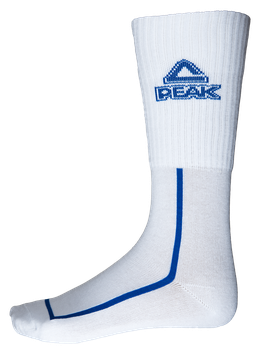 PEAK Socks White / Blue