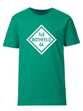 BOTHFELD T-Shirt grün mit Rauten-Logo und Wunschname