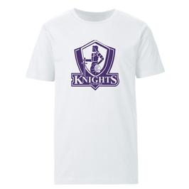 KNIGHTS T-Shirt weiß mit Logo und Wunschname