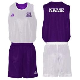 KNIGHTS PEAK Wendeset weiß/purple mit Wunschname und Logo