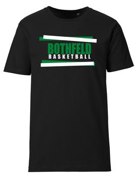 BOTHFELD T-Shirt schwarz mit Balken-Logo und Wunschname