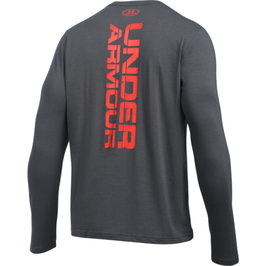 Under Armour Vertical Wordmark Longsleeve Carbon / Orange