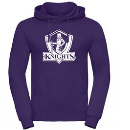 KNIGHTS Hoodie purple mit Logo und Wunschname