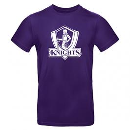 KNIGHTS T-Shirt purple mit Logo und Wunschname