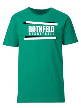 BOTHFELD T-Shirt grün mit Balken-Logo und Wunschname