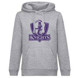 KNIGHTS Hoodie Grau mit Logo und Wunschname