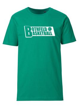 BOTHFELD T-Shirt grün mit Block-Logo und Wunschname