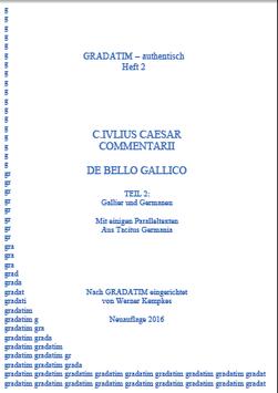 C. I. Caesar: De Bello Gallico (2) Gallier und Germanen