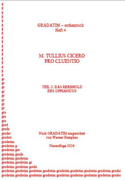 M. T. Cicero: Pro Cluentio (2) Das Kerbholz des Oppianicus