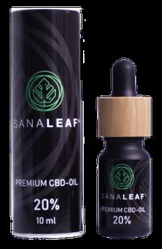 SANALEAF® Premium Vollspektrum CBD-Öl 20%